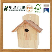 Eco-friendly small wood crafts bird house,small bird cages for decoration,miniature houses for sale