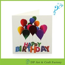 Cheap gifts and premiums Music greeting cards high quality and Competitive price