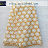 Excellent factory price nigerian white and gold lace/ polyester metallic lace fabric/ korean lace for wedding bridal dresses