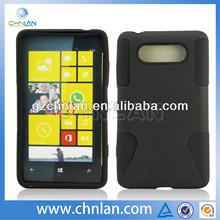 Wholesale mesh pc silicon case for nokia lumia 820