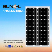 MONO 240W solar panel for 1MW grid tie power energy plant