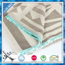 100% Modacrylic FAR25.853 flame retardant jacquard woven desgiin airline blanket