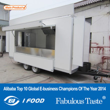 2015 HOT SALES BEST QUALITY breakfast food caravan mobile restaurant caravan mobile kitchen food caravan