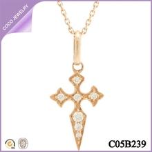 collares baratos de moda de aleación collares con cruces