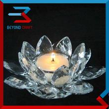 cristal lotus shape tealight candle holders