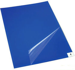 China Supplier PE Sticky Mat Factory Directly Selling Film Blue Floor Mat