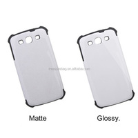 3D Sublimation Silicone Dual Protective case for Samsung galaxy S3