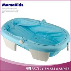 Popular plastic indoor infant bath tub baby folding small bathtub