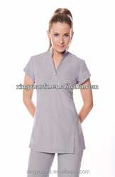 2015 hot selling elgant spa uniforms used in hotel ,salon and other work places
