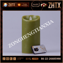 Interior decoration Lvory flameless moving wick led candle,7 day candles wholesale