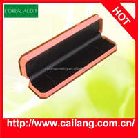 China factory brown velvet jewelry packaging box with leather insert