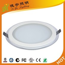 High brightness Aluminium glass 18w led panel light ac85-265V