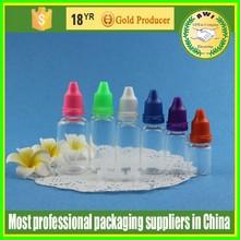 piccole bottiglie clear e liquido 5ml pet bottiglie di plastica con tappo childprood e normale punta o tappi per le sigarette elettroniche