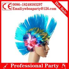 hot sale colorful fan wig