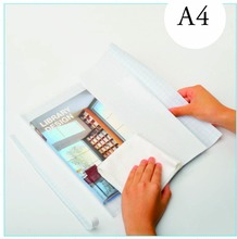 Protective transparent self adhesive book cover