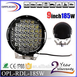 High Power Popular ultifunction 185w driving light,185W Auto led lighting,red and black housing 185w led driving light