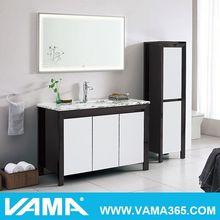 Decorativos de parede prateleiras de madeira em pé livre moderno do armário de banheiro