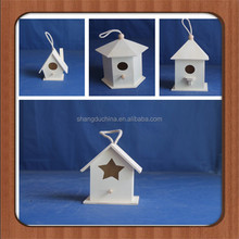 DIY small Decorative functional hand crafted Eco-friendly wooden birdhouse with many drawers