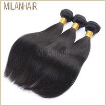 Aliexpress High Quality Relaxed Straight Hair Burmese Hair Weaving/Brazilian Silky Straight Remy Human Hair Weft