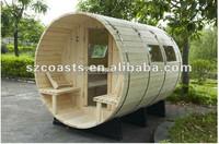 Hot selling dry steam shower sauna cabin ,barrel sauna room for 4 people