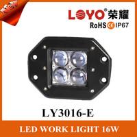 16W LED Work Lights, Truck LED Work Lights, offroad 4D flood spot 12v 24v led work lights for all cars jeep truck motorcycle