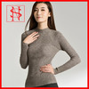 Mock neck modern knit nylon sweater