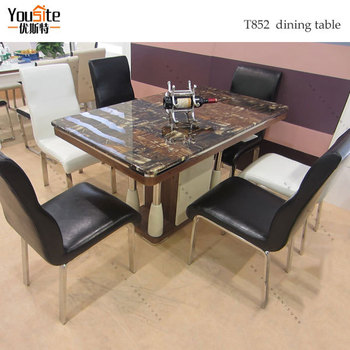 india marble top wood dining table with cheap price buy marble top