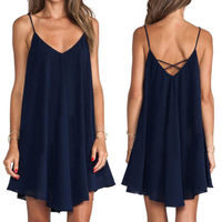 Sexy Women Sleeveless Party Evening Cocktail Summer Casual Mini Dress , wholesale fashion ladies new casual dress