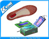 Combined PVC PCU air blowing slipper shoe mould
