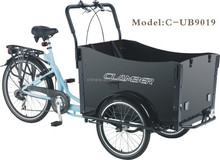 Bakfiets pedal adult cargo tricycle/cargo trike for baby/family cargobike