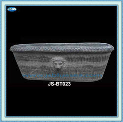 Home Used Stone Carved Lion Head Antique Bathtub