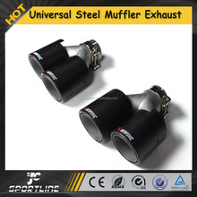 Universal Dual Exhaust Quad Outlet Car Exhaust Muffler, Carbon Fiber End Tips For any car