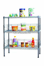 DIY 3 Ties Metal Wire Unique Spice Racks for Kitchen Use