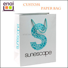 logo printed coated or cardboard material paper bag for camera or mobile phone parts packing