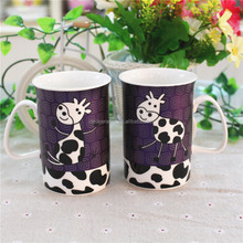 Liling manufacturer 10oz color glazed stoneware dinnerware coffee mug with handpainted