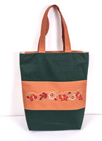Chinese embroidery design OEM manufacturer custom cotton shopping bag, fashion beach bag, canvas tote bag