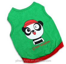 Pet Dog Panda Printting Summer Vest Doggy Clothes Top Apparel T Shirt Costume