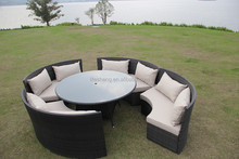 Loveseat sofa/Garden courtyard sofa set/round coffee table