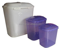 5kg Sqaure Shape Plastic PET Dog Food Barrel Container with Wheel