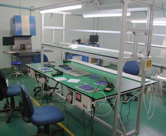 Mesa estação de solda para fazer os painéis FOTOVOLTAICOS células solares utilizados na linha de produção de painéis solares