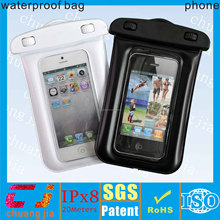 Good quality clear pvc waterproof bag for smartphone