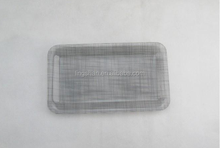 Acrylic Rectangle Tray Purple Grids Small 21.5*12.4*1.1cm