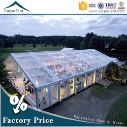 8m *25m permanent outdoor event tents transparent wedding party marquee exported to Arabic