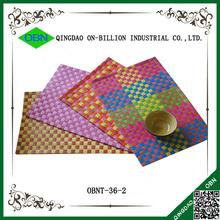 Modern design plastic pp woven table mat