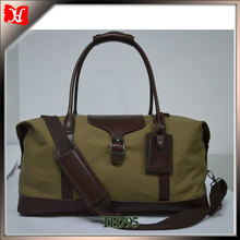 22oz canvas leather duffle bag waterproof sports bag gym bag