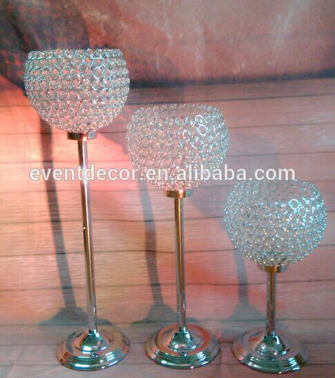 Tall candle holders for weddings wedding crystal