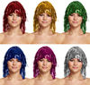 Cheap wholesale colorful tinsel wig carnival fancy dress wigs W4025