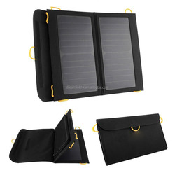 Hot 13W Outdoor Solar Panel USB Charger Battery Power Bank Folding Solar Charging Bag