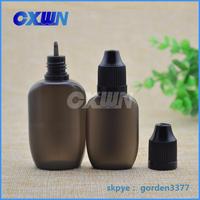 30ml childproof PE oval plastic bottle& thin insert