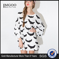 2015 new design women casual dresses 100% cotton long sleeve MGOO wholesale street t-shirt style dress